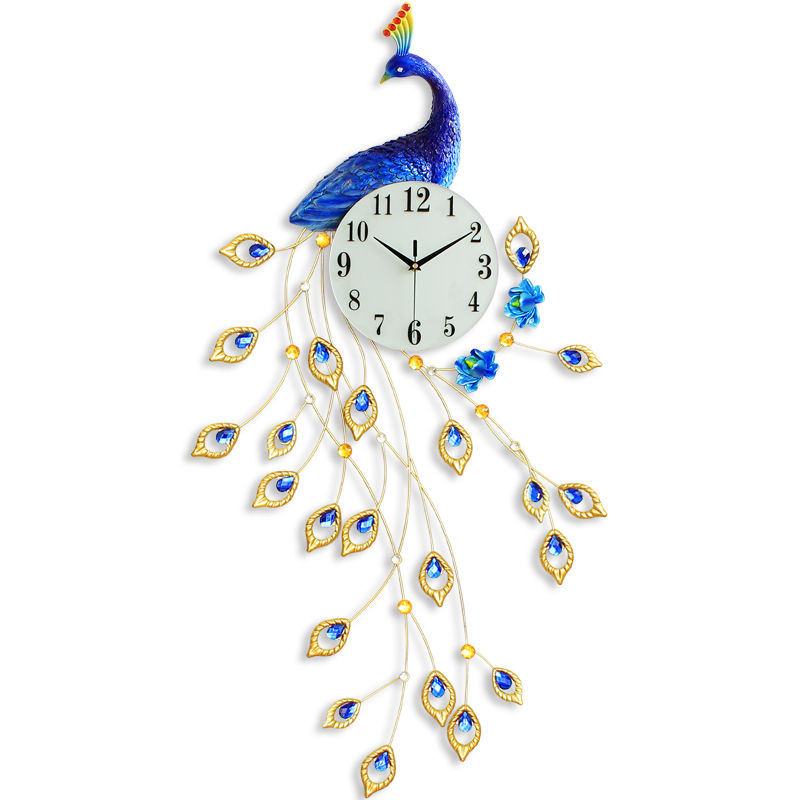 New Peacock Metal Art Craft Large Wall Clock Decor 3D Manufacturer