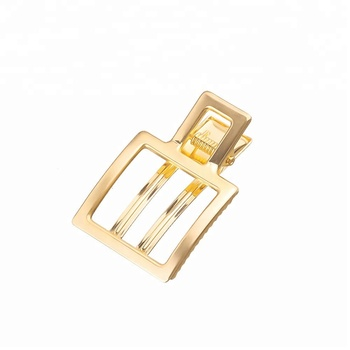 Premium thickened square design snap powerful fix hair gold metal hair clips accessories