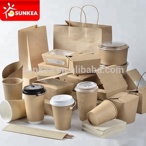 Descartável design personalizado embalagens de alimentos eco friendly