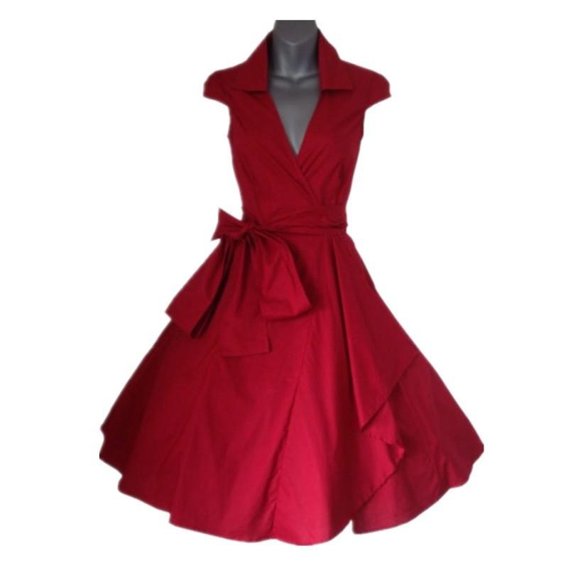e88f6dcb1d7d Get Quotations · Dress Black/Red/Blue/White/GreenSummer dress vintage  Rockabilly Retro Swing 1950s