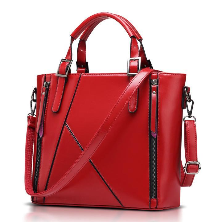 High-grade Business Famous Designer Bags Handbags High Quality 2015 Bag For Women PU Leather Bucket Bag Red Shoulder Brand Sac