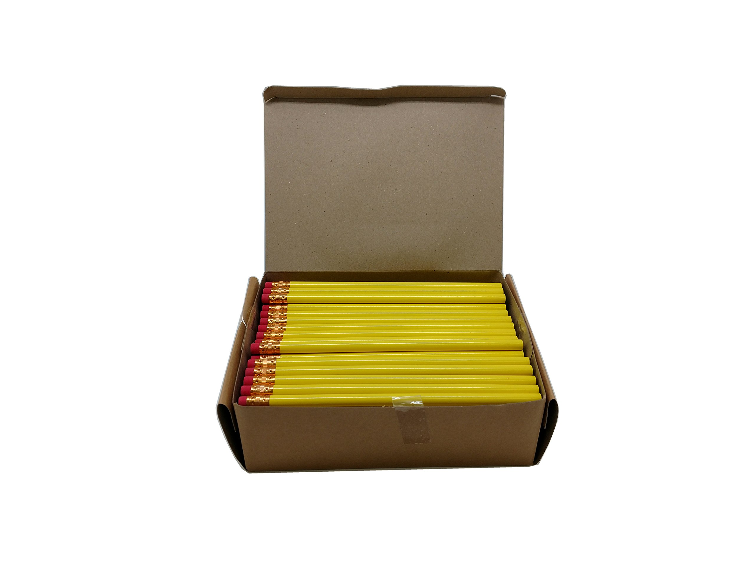 Impex Round Wood #2 HB Pencils (4 Gross, Bulk Lot of 576pcs, Classroom Set) (Bright Yellow)