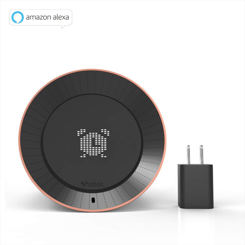 [New Version] Vobot Smart Alarm Clock with Amazon Alexa, LED Display,Children's Story Machine, Weather/Daily News/Timer/Radio,5W Speaker