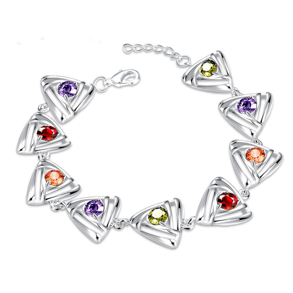 Low price new crystal silver bracelet