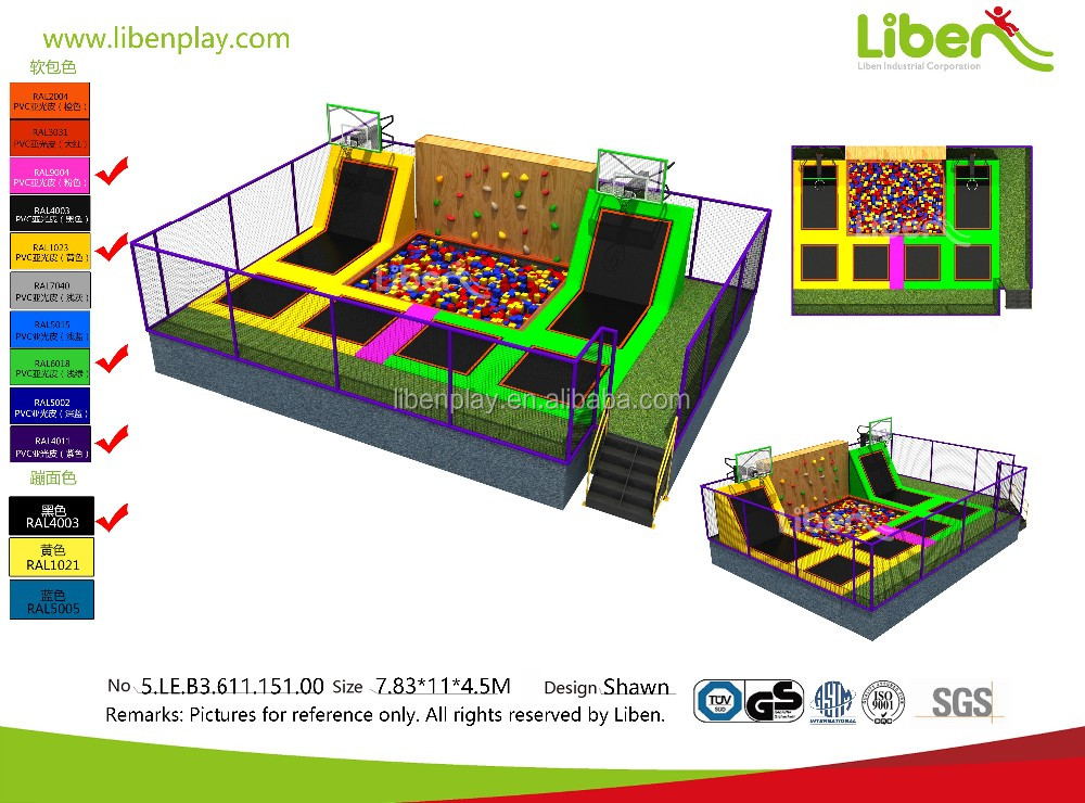 Hottest Factory price USA indoor trampoline foam pit