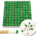 100pcs Billiard Accessories 9mm Push on Pool Snooker Billiard Tips Pool Cue Tips Slip on Stick