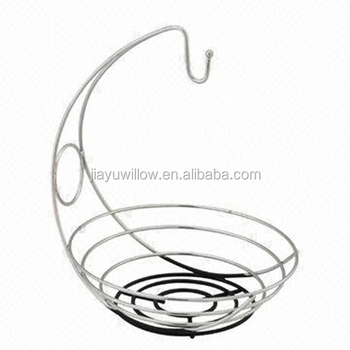 fruit basket with banana holder metal fruit basket stand cheap wire basket