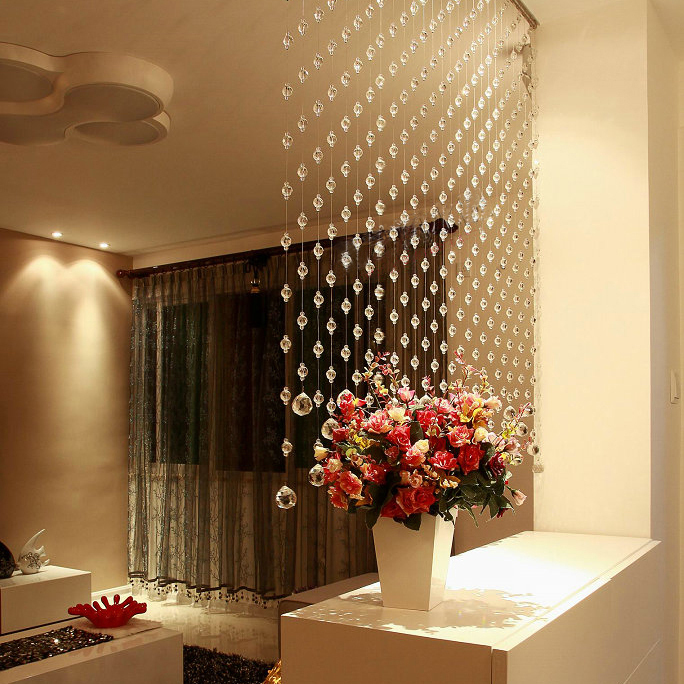 Bead curtain hot sale crystal bead curtains hotel office for Hotel door decor