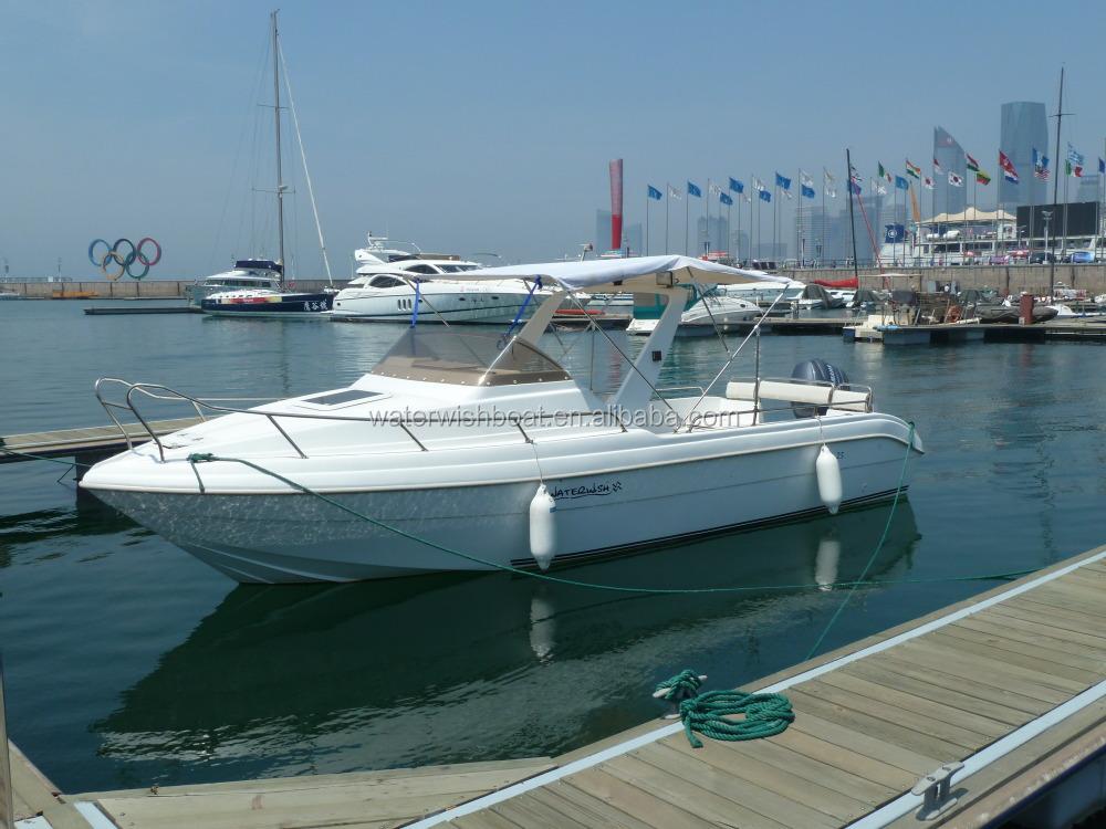 Waterwish Qd 25 Fiberglass Cabin Cruiser Boat For Sale