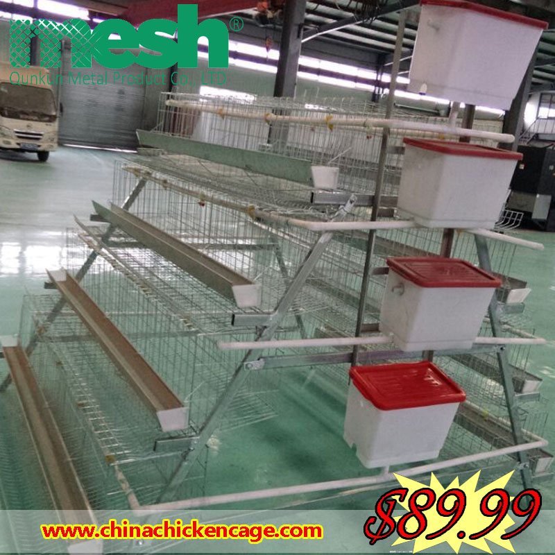 Free sample 4 Tiers Chicken Cage System With Low Price