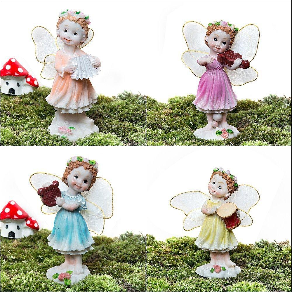 VASL Garden Ornaments Fairy Decoration Angel Set -4 Lovely Angels