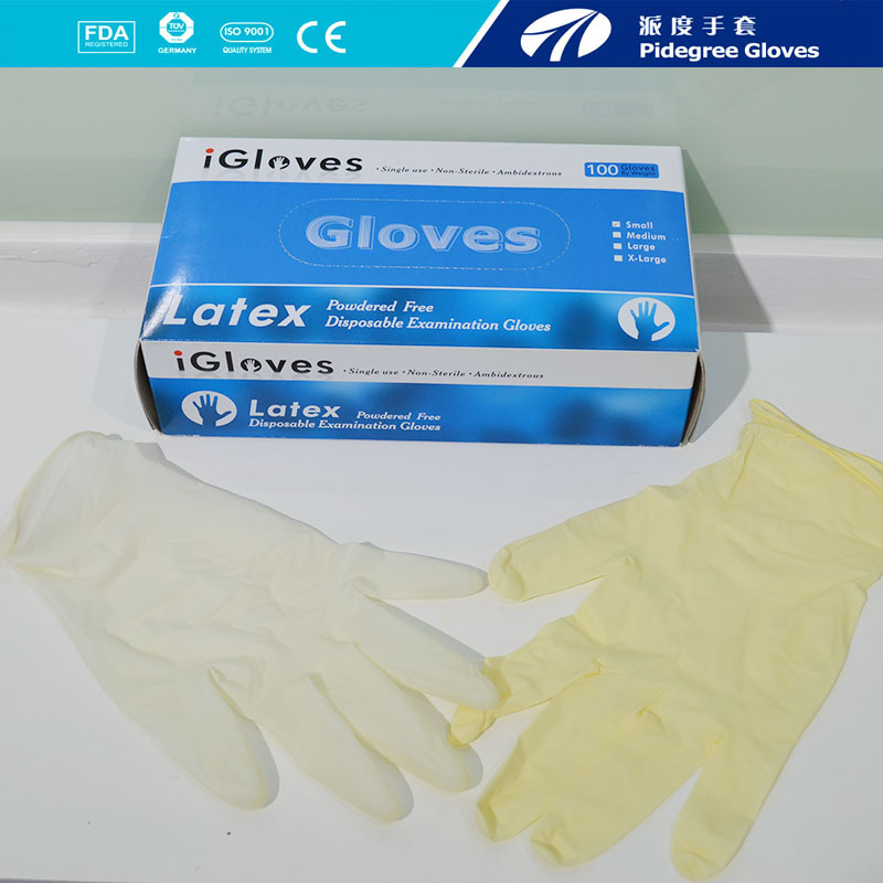 gloves latex ,cheap custom medical latex gloves powder free malayzia