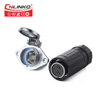 Cnlinko IP65 male female wire connector 2pin M20 2 pin circular power connector 2pin waterproof plastic electric connectors