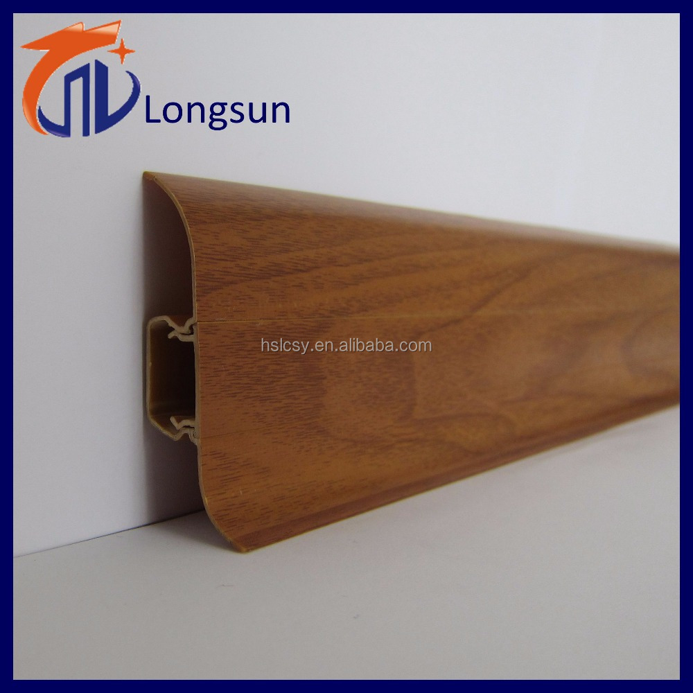 Carpet edge protective pvc skirting board decorative strip