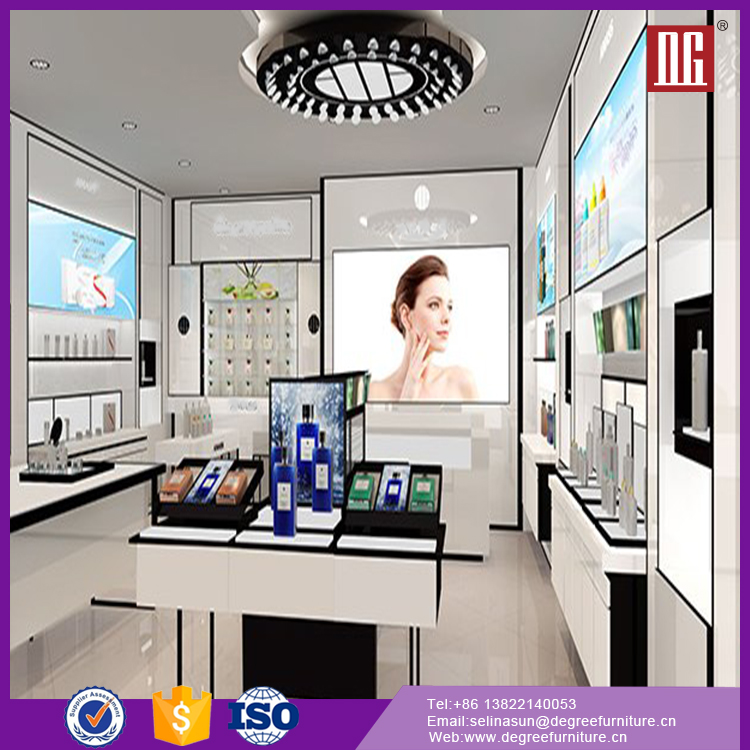 Hot -sale and high quality cosmetic shop counter design display shelves