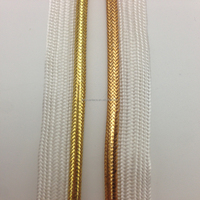 wenzhou kaiyuan factory direct supply competitive price polyester bias tape/golden lurex piping cord