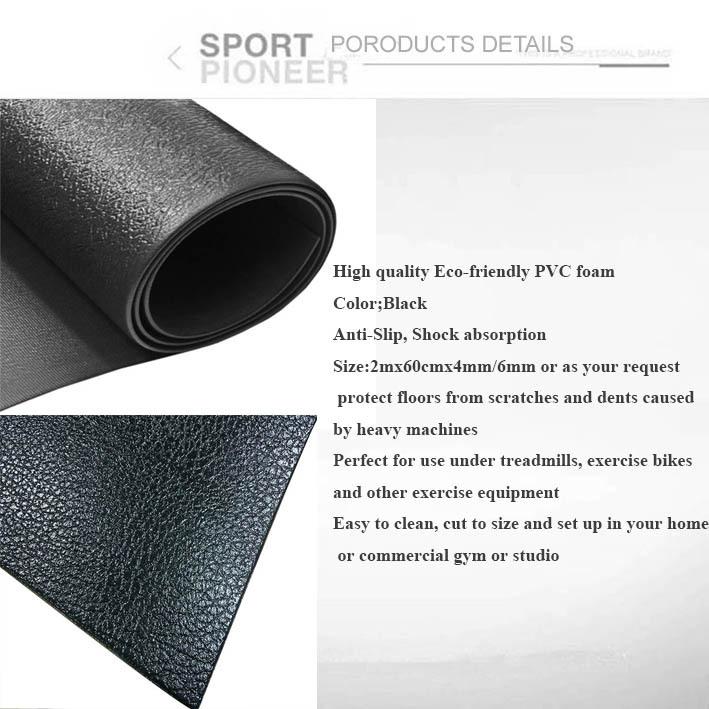 exercise machine floor mat