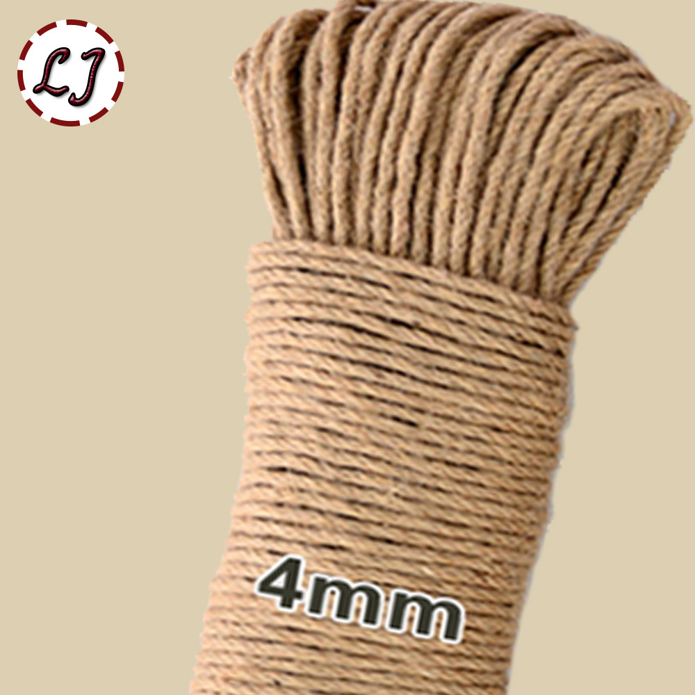 Wholesale 16meter/lot width 4mm Shabby Chic Natural Jute Twine Rustic