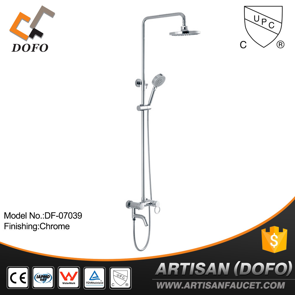 cUPC bathroom taps Wall Mounted Faucet and rain fall shower