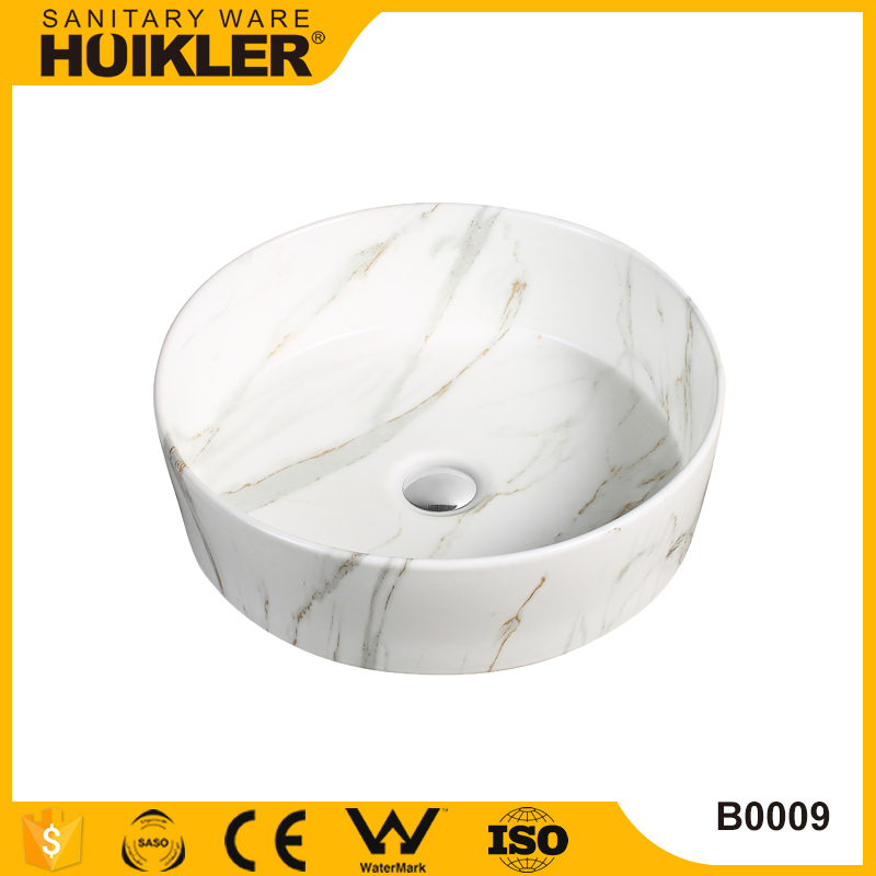 Modern style new design round pedestal wash basin low price, art basin for sale