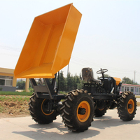 Factory price palm diesel mini truck 4*4 wheel dumper