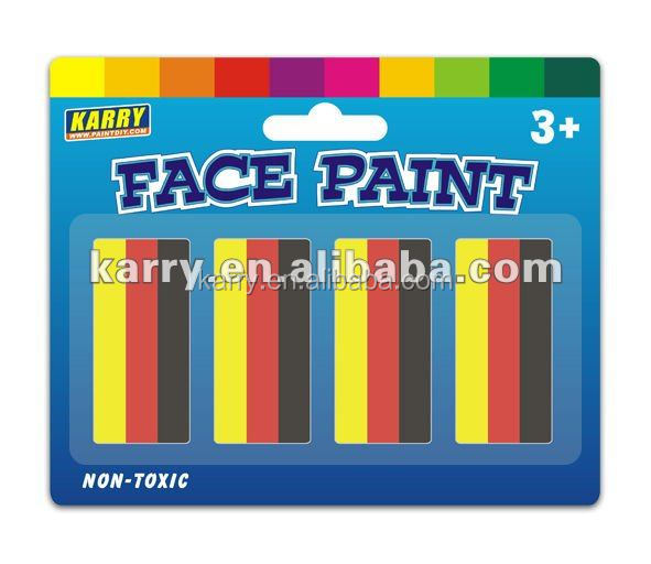 football fans body face paint