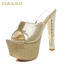 SARAIRIS/Новые брендовые Качественные вечерние женские туфли на платформе, большие размеры 31-48(Китай)
