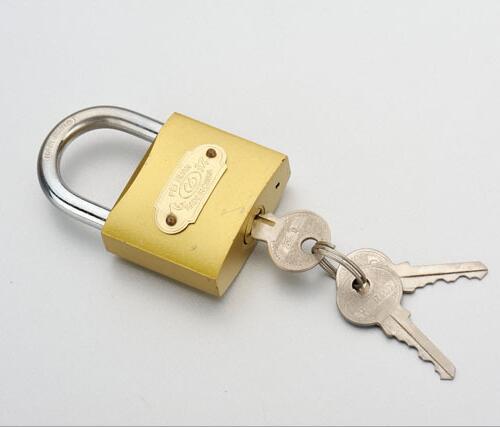 vintage Brass-Steel Cabinet-Cupboard-Drawer lock  73mm 1 Key 377