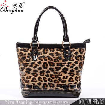 ebb86b73b4c Wholesale moroccan style patent leather bag, women fashion leopard print  shopping bag