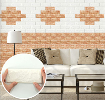 3D adhesive Room Decor PE interior decoration 3D wall stickers