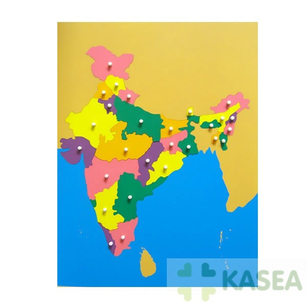 Premium Montessori Puzzle wooden teaching resource Puzzle Map of India