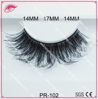 Natural false eyelashes wispy style human hair lash wholesale custom packaging