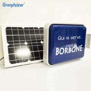 Outdoor advertising solar power illuminated light box sign
