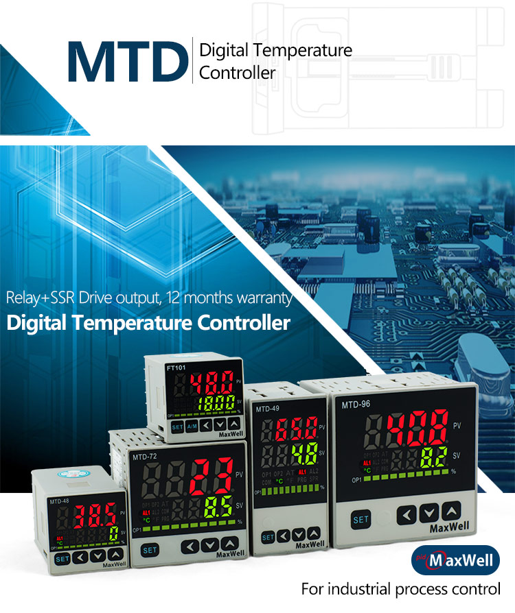 MTD intelligent temperature control instrument with output field selectable