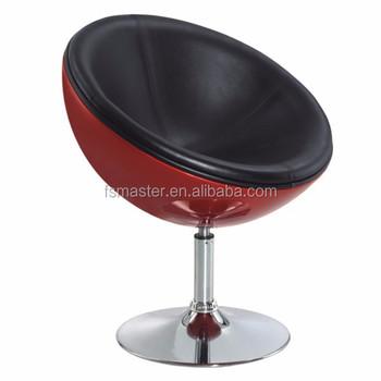 Fiberglass Eggshell Swivel Half Moon Chair