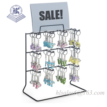 Metal wire counter key  hanging  display rack