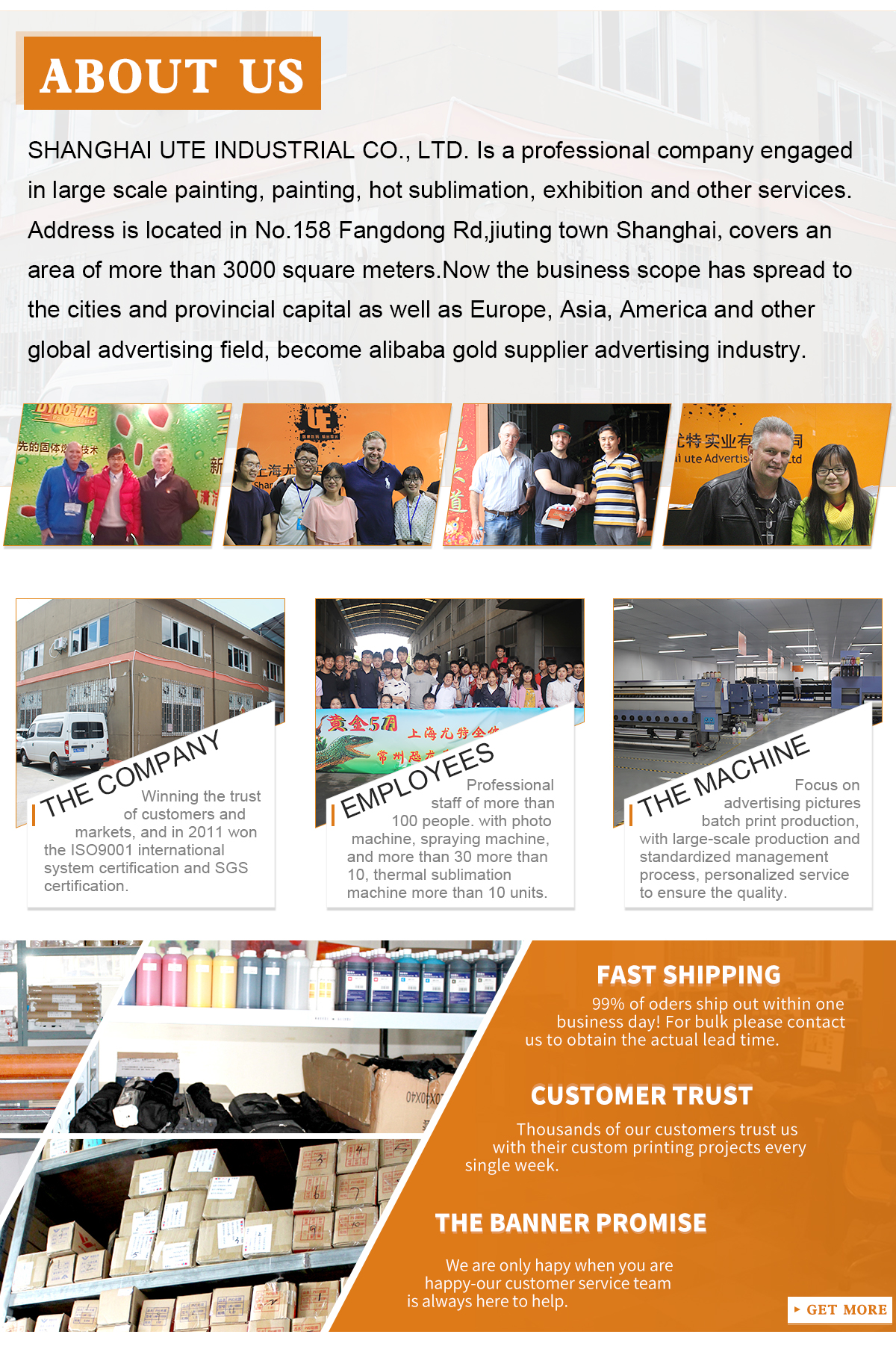Shanghai UTE Advertising Print Co Ltd Banner Flag - Vinyl business bannersonline get cheap printing vinyl banners aliexpresscom alibaba