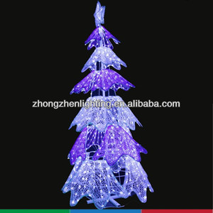 wholesale light up outdoor christmas crystal tree