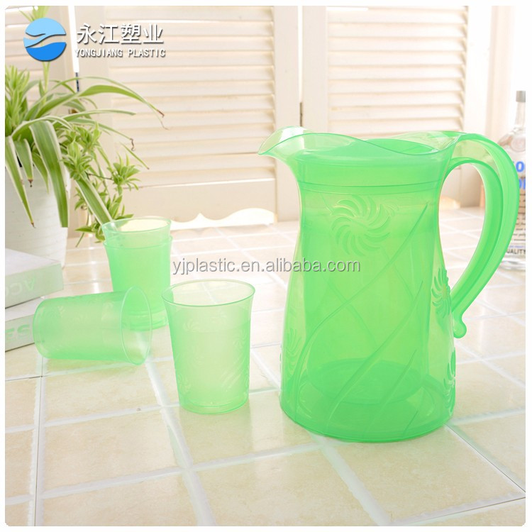 wholesale high borosilicate glass water jug plastic milk jug with cups oil measuring jug