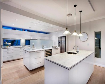 Modern Design 2 Pac Paint Finish High Glossy White Kitchen Cabinets