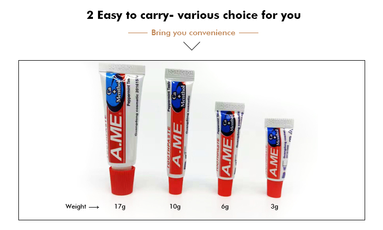 Health hotel size 6g ame toothpaste,teeth paste for adults/kids with free samples