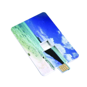Full Color Print Slim Card Bulk USB Flash Drive Memory Cle USB 64GB