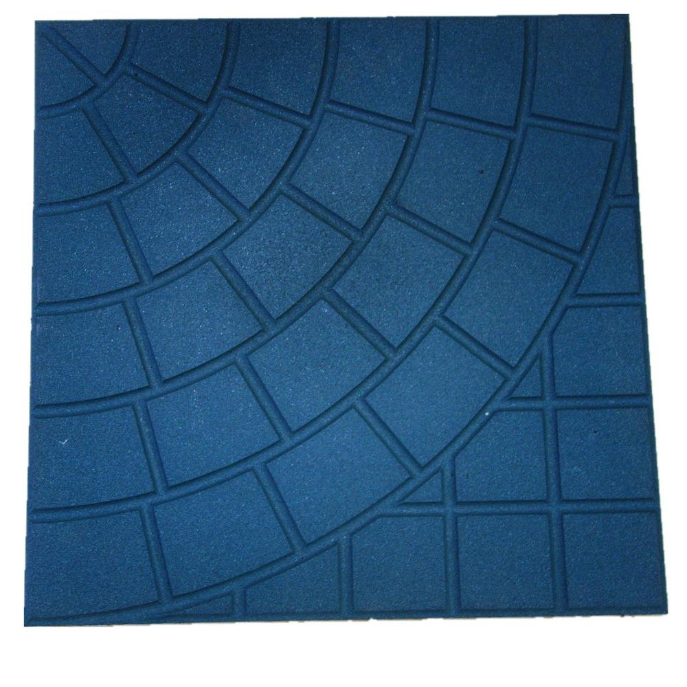 Non Toxic Plaza Rubber Floor Square Brick Outdoor Tiles