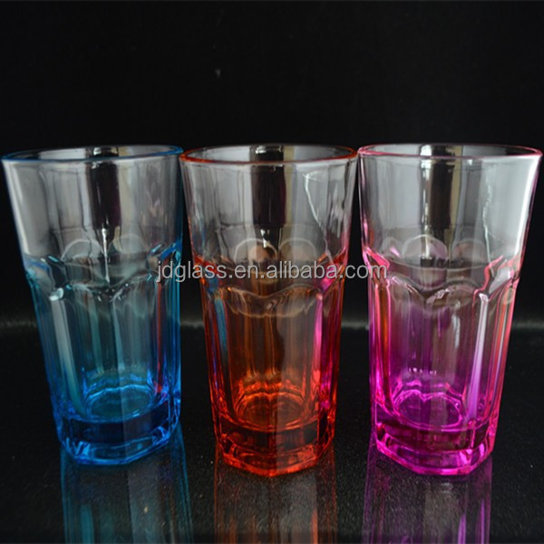 our factory can spray color glassware new products with customer logo