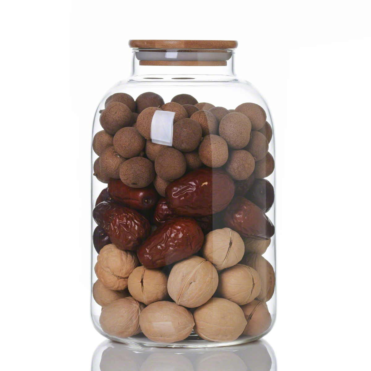 3200ml Large Heat Resistant Borosilicate Glass Food Jar With Bamboo Lid