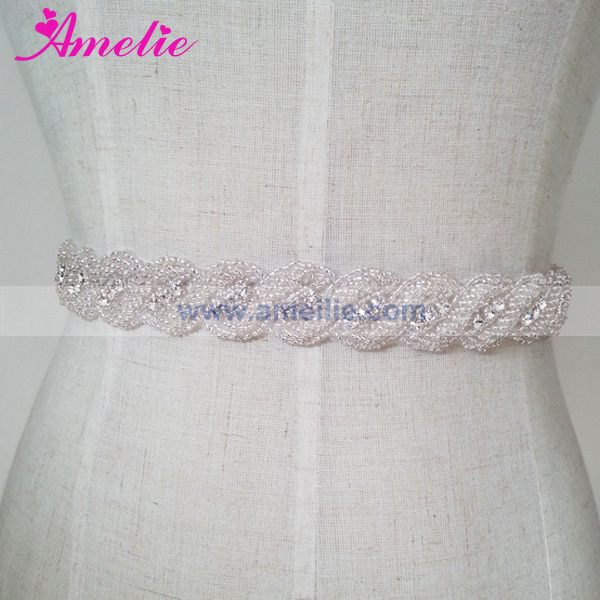Rhinestone Sash Belt and Headband Wedding Belts and sashes