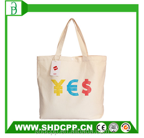 alibaba custom logo canvas tote bag for shopping