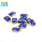 New Design 13*18mm Sapphire Color Birthstones Crystal Connector Charms Gem Stone For Jewelry Making DIY 12pcs/bag
