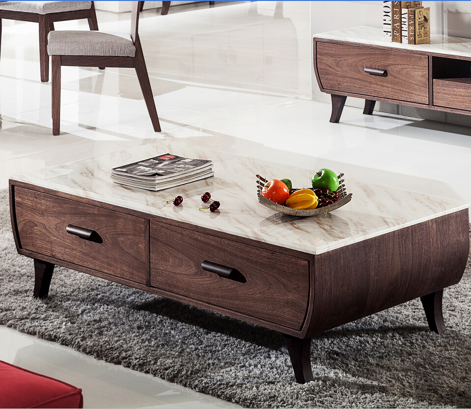 Modern Vintage Country Style Marble Coffee Table Marble Center