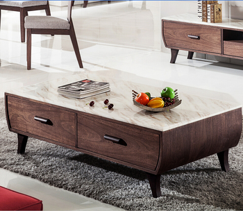Modern Vintage Country Style Marble Coffee Table Center